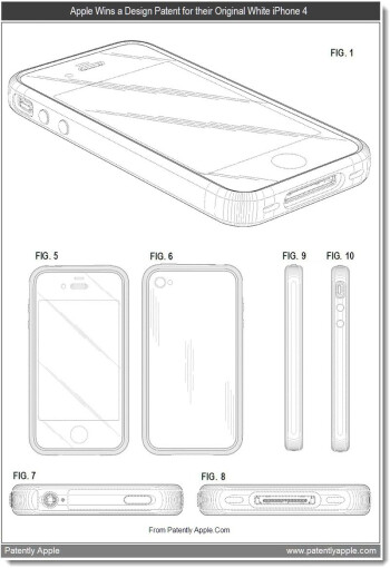 Apple received 10 design patents from the USPTO on Tuesday