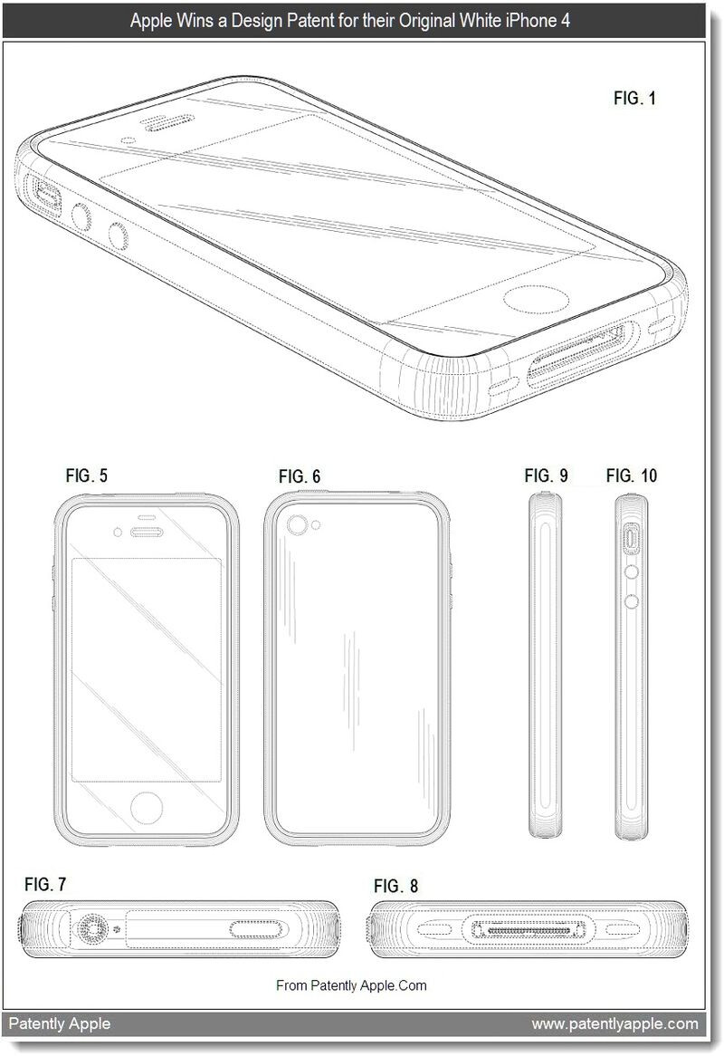 Apple received 10 design patents from the USPTO on Tuesday - Apple granted 10 patents for design