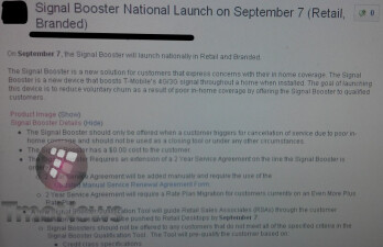 T-Mobile may start giving free signal boosters to customers who are not satisfied with their in-home cellular coverage