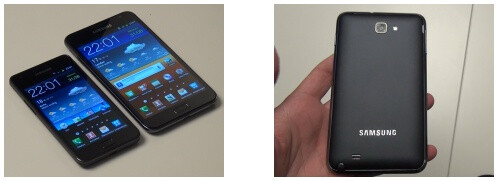 The Galaxy Note eclipses the Galaxy S in size - Samsung Galaxy Note: a supersized Galaxy S II with a stylus