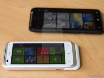 The HTC Radar (in white) and the HTC Titan (in black)