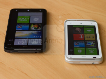 The HTC Radar (in white) and the HTC Titan (in black)