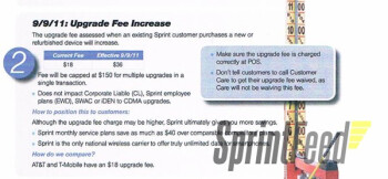 Sprint to double its upgrade fee on September 9th?