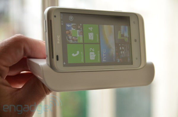 Images courtesy of Engadget, WMPowerUser - HTC Radar, HTC Titan to support an optional dock