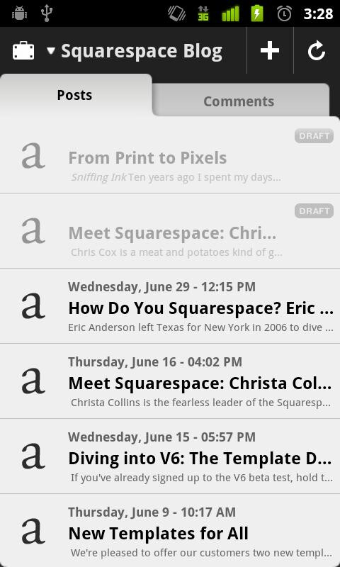 Squarespace app finally available for Android