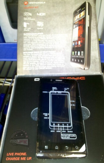 The Motorola DROID BIONIC launch kit is arriving at