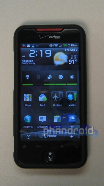 Proof that some owners of the HTC Droid Incredible have received the Android 2.3.4 update