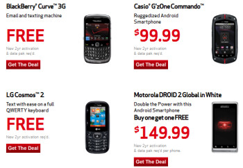 How to get a gift card from Verizon (L) and some of the carrier's special Labor Day deals (R)