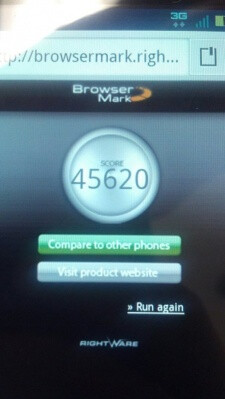 From left to right, the Motorola DROID BIONIC's browser beats the stock Android browser on the Google Nexus S in a benchmark battle, the front and side view of your next smartphone?