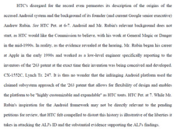 Part of the original document filed by Apple