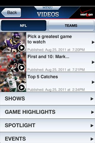 The NFL Mobile app is now available for certain Verizon smartphones only