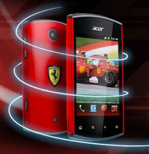 Acer Liquid Mini is also graced with a Ferrari Edition