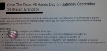 "T-Mobile to have an ""All Hands Day"" on September 24"