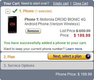Amazon makes a statement by pricing the Motorola DROID BIONIC at $200 for new customers