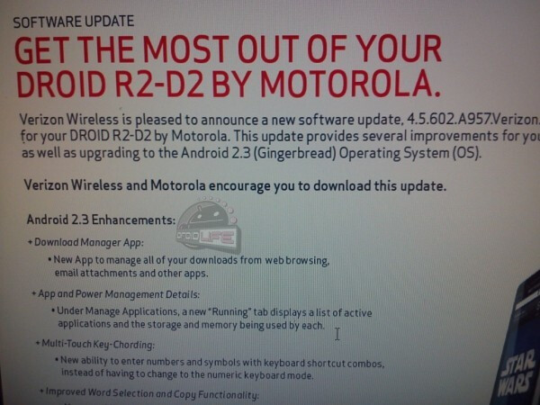 Support Page for the Motorola DROID 2 R2-D2 update - Motorola DROID 2 Global Gingerbread update stopped while R2-D2 variant is ready for its update