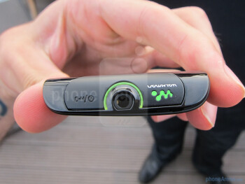 The Sony Ericsson Live with Walkman is a little bigger than the Xperia minis and the Xperia active