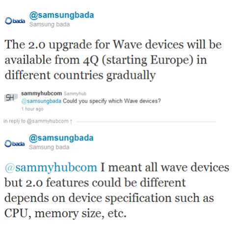 All Wave handsets to get some form of bada 2.0, updates starting from Q4 2011