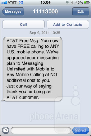 AT&T is offering free calling plan upgrades to some customers - AT&T gives some customers free upgrade to Mobile to Any Mobile calling