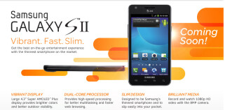 AT&T's sign up page for the Samsung Galaxy S II is now live