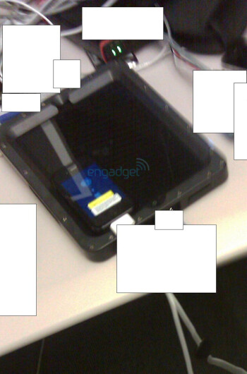 A blurry picture of a disguised Apple iPad