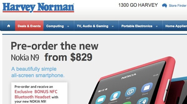 Nokia N9 finally up for pre-order in Australia, may let you down with a price of more than $850