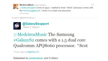 T-Mobile version of the Galaxy S II will feature a 1.5GHz dual-core Qualcomm chip