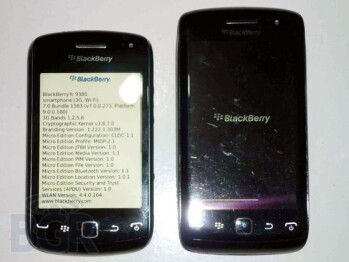 Pictures of the unannounced BlackBerry Bold Touch 9380