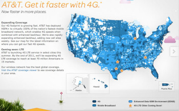 AT&T will launch its LTE service in 5 markets on Sunday