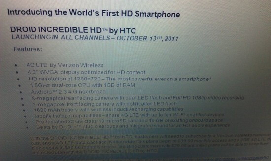 HTC Vigor first press shots spotted, may arrive as HTC Droid Incredible HD
