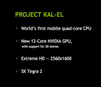 NVIDIA Kal-El – what will the first quad-core chipset bring
