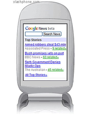Google launches Google news for cellphones