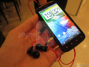 The HTC Sensation XE's musical orientation can be seen in various elements of its design