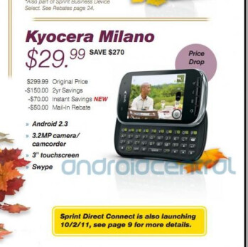 The Kyocera Milano is just $29.99 after a $20 price cut