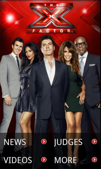 The X-Factor app allows you to vote for your favorite contestant