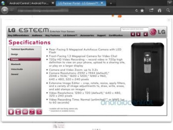 The LG Esteem is expected to launch next month for MetroPCS