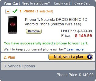 Amazon drops the price of the Motorola DROID BIONIC to $150 with a $50 gift card included