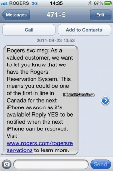 Canadian carrier Rogers is using the Apple iPhone to push its new device Reservation System