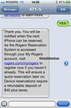Canadian carrier Rogers is using the Apple iPhone to push its new device Reservation System - Rogers pushes its new device Reservation System to potential Apple iPhone buyers