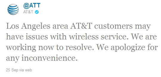 AT&T's Los Angeles weekend service disruption due to issues with more than a 1000 cell towers