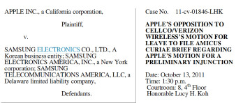 Apple is asking the court for a preliminary injunction against certain Samsung devices