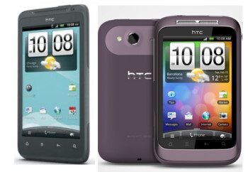 Coming to U.S. Cellular, the HTC Hero S (L) and the HTC Wildfires S (C) and the HTC Flyer (R)