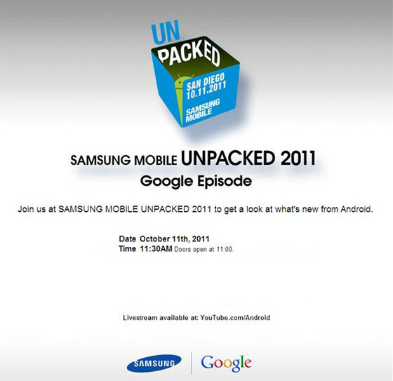 Samsung schedules Oct 11th for a joint Android event with Google