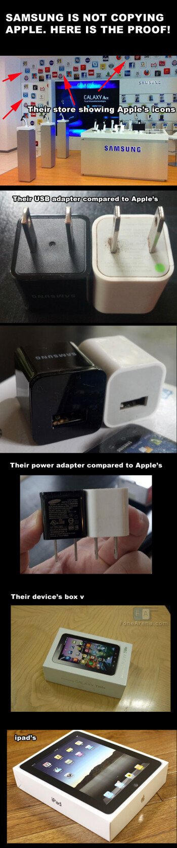 Here's how Samsung never copies Apple... Not