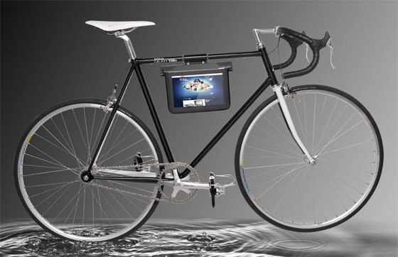 The bike and Samsung Galaxy Tab 10.1 come together to offer one intriguing set up