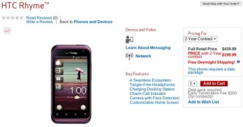 HTC Rhyme with its trio of accessories can be yours today for $199.99 on-contract