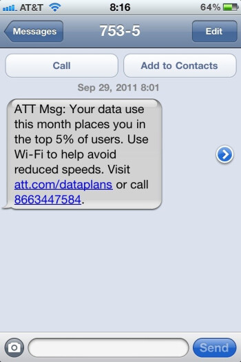 AT&T begins using scary tactics for its top 5  of data users