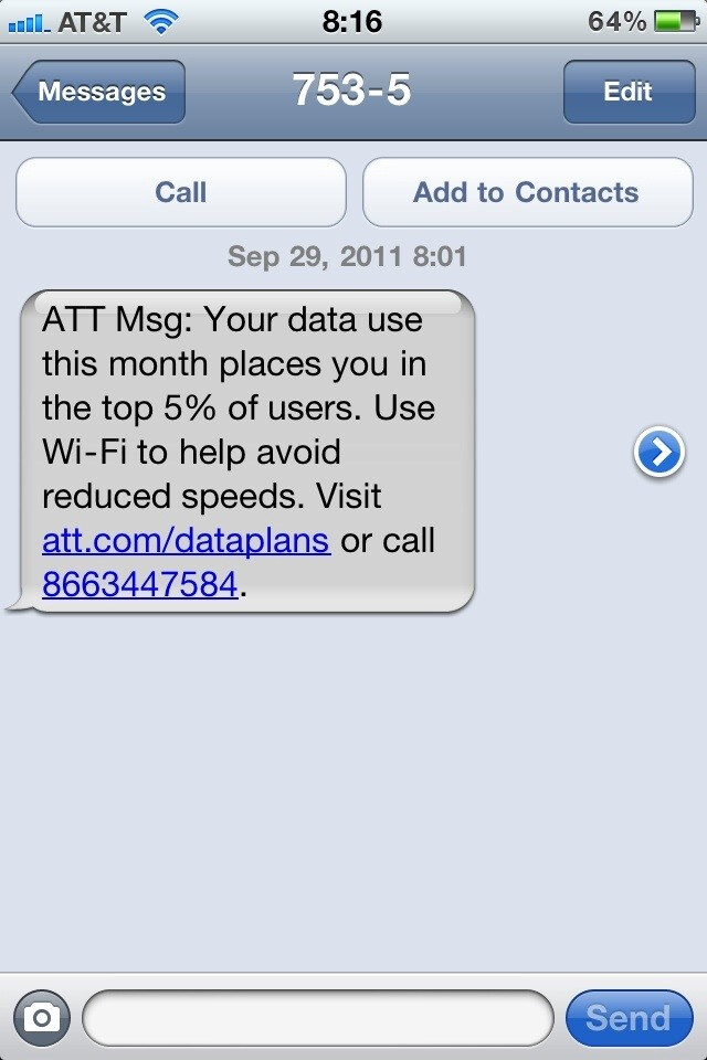 AT&T begins using scary tactics for its top 5% of data users