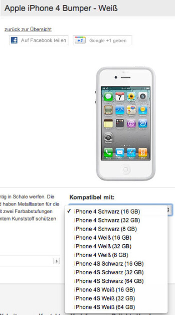 Vodafone Germany lists iPhone 4S with capacities up to 64GB