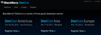 BlackBerry's DevCon Americas is coming this month