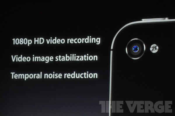 The iPhone 4S will feature an 8MP camera and 1080p video recording - Apple iPhone 4S is finally announced!